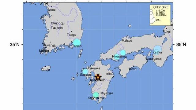 Silne trzęsienie ziemi na japońskiej wyspie Kiusiu, możliwe tsunami
