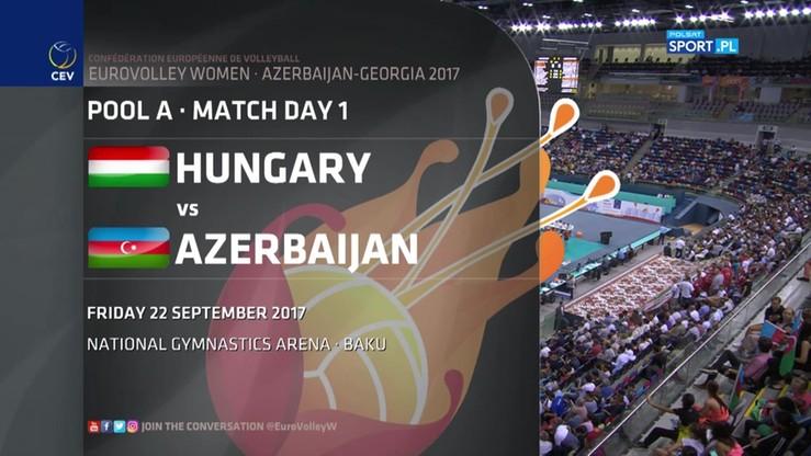 Azerbejdżan - Węgry 3:0. Skrót meczu