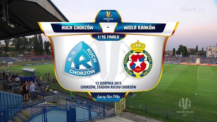 Ruch Chorzów - Wisła Kraków 2:1. Skrót meczu