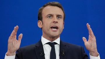 """27-04-2017 21:32 Macron opowiada się za sankcjami wobec Polski. """"Naruszyła wszystkie zasady Unii"""""""