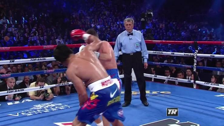 Manny Pacquiao pokonał jednogłośnie na punkty Chrisa Algieriego.