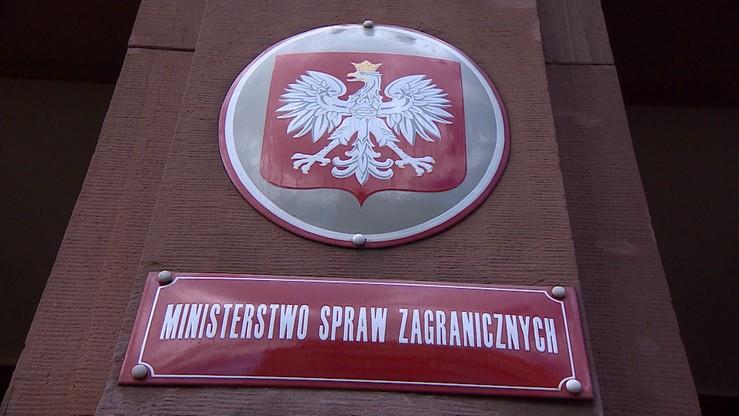 Polski MSZ: potępiamy ten akt barbarzyństwa na niespotykaną skalę