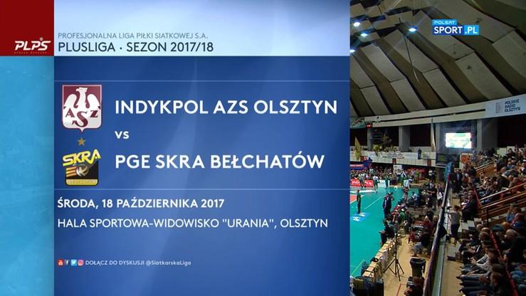 Indykpol AZS Olsztyn - PGE Skra Bełchatów 3:2. Skrót meczu
