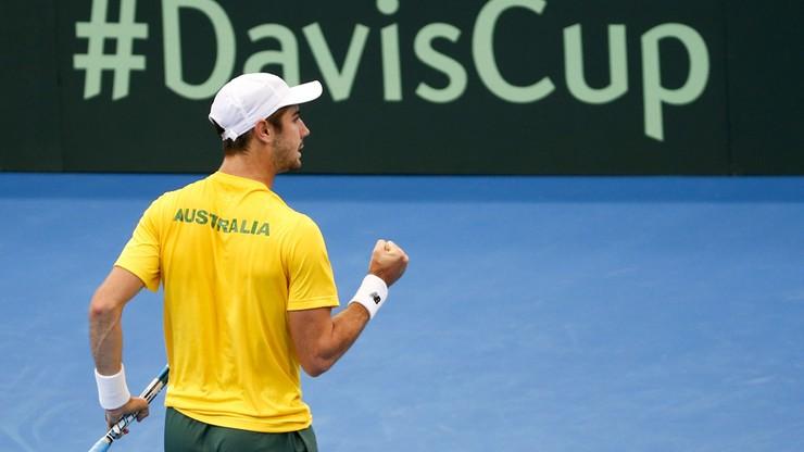 Puchar Davisa: Australijczycy o krok od półfinału