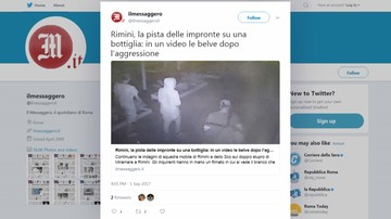 02-09-2017 18:03 ANSA: policja zatrzymała trzeciego sprawcę napadu na Polaków w Rimini