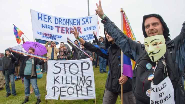 Niemcy: protest przeciwko amerykańskim samolotom bezzałogowym