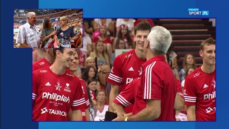 2016-09-11 Rodzice Pawła Zagumnego na jego meczu pożegnalnym!