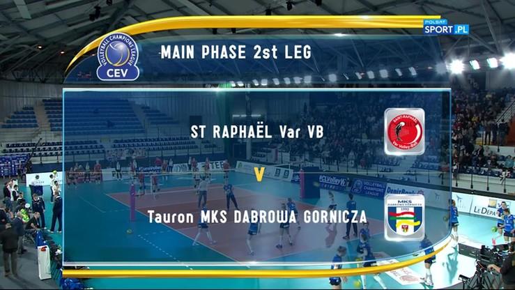 St. Raphael Var VB - Tauron MKS 1:3. Skrót meczu