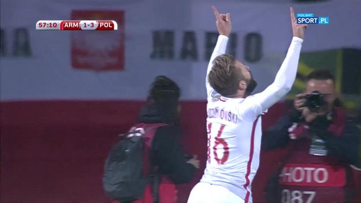 2017-10-05 Armenia - Polska 1:4. Gol Błaszczykowskiego