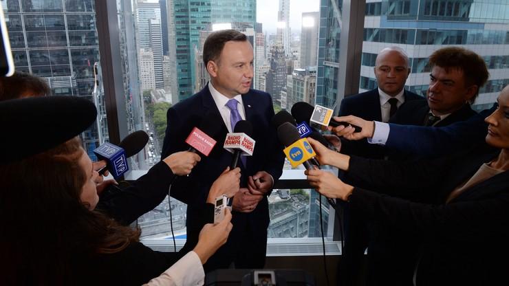 Prezydent Duda: Polska popiera negocjacje z USA w sprawie TTIP