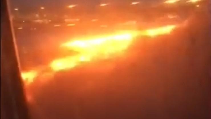 """Po awaryjnym lądowaniu samolot stanął w płomieniach. """"Właśnie uciekłam przed śmiercią"""""""