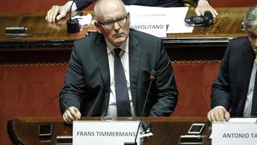 17-03-2017 19:51 Timmermans: dzięki integracji europejskiej Polska po raz pierwszy panią swych granic