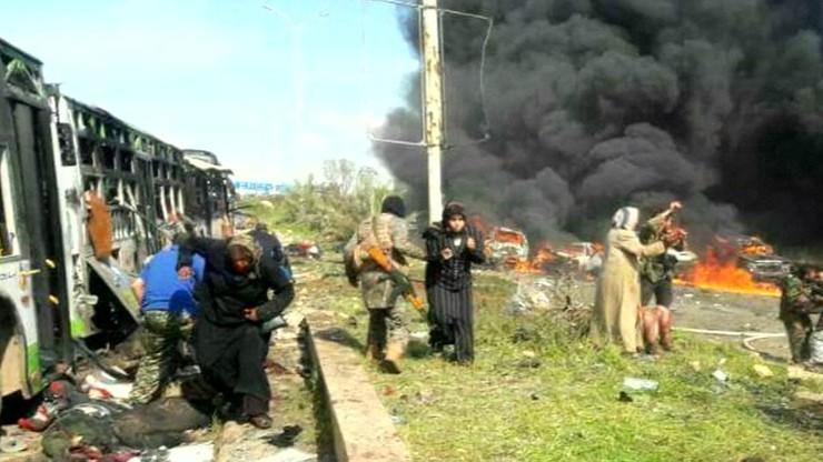 Do stu osób wzrósł bilans zabitych w zamachu na konwój w Syrii