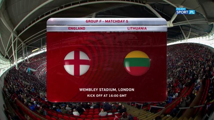 Anglia - Litwa 2:0. Skrót meczu