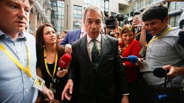 04-07-2016 11:33 Farage zrezygnował z przewodniczenia eurosceptycznej Partii Niepodległości Zjednoczonego Królestwa