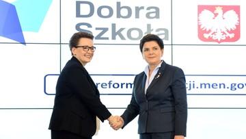 09-11-2016 11:26 Szydło: to reforma edukacji, której potrzebuje polska szkoła