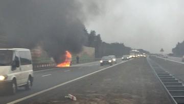 2016-02-04 Pożar samochodu na autostradzie A2