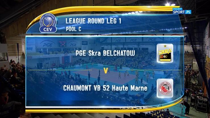 PGE Skra Bełchatów – Chaumont VB 52 Haute Marne 1:3. Skrót meczu