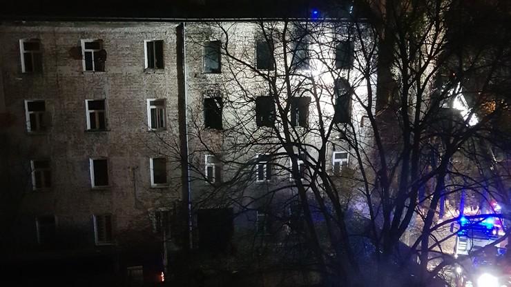 2017-11-09 Ponowny pożar kamienicy przy ul. Siedleckiej w Warszawie