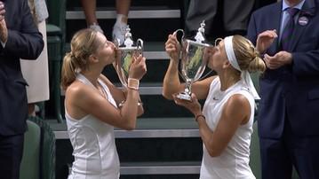 2017-07-15 Makarowa i Wiesnina zdeklasowały rywalki w finale Wimbledonu! Oba sety do zera