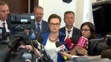 Spotkanie przedstawicieli klubów opozycyjnych w Sejmie.