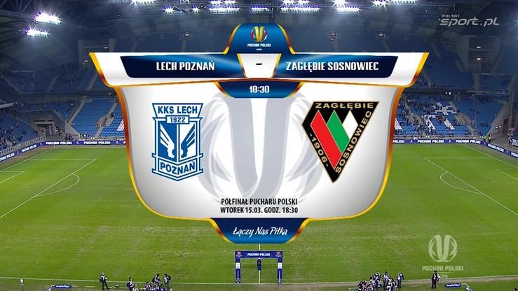 Puchar Polski: Lech Poznań - Zagłębie Sosnowiec 1:0. Skrót meczu