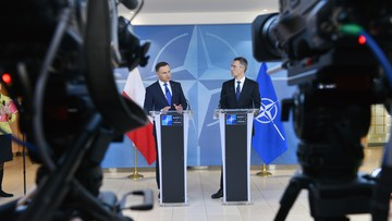 """18-01-2016 14:31 """"Polska silnym sojusznikiem w NATO"""". Stoltenberg i Duda spotkali się w Brukseli"""
