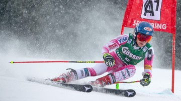 2016-12-28 Alpejski PŚ: Shiffrin prowadzi na półmetku slalomu giganta w Semmering