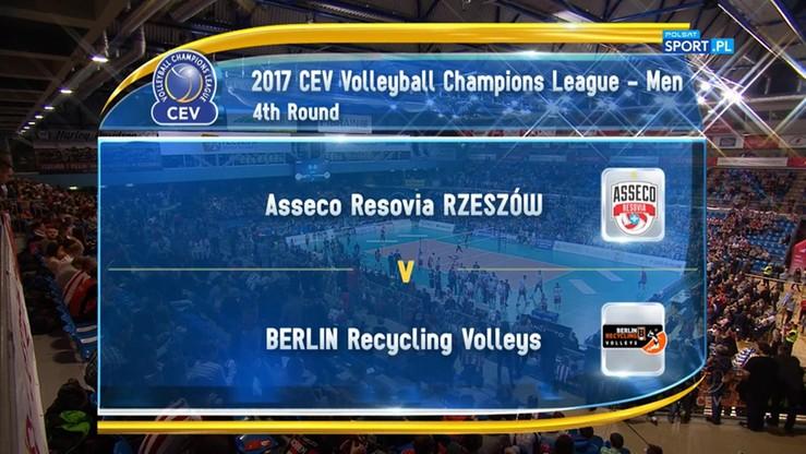 Asseco Resovia - Berlin Recycling Volleys 3:2. Skrót meczu
