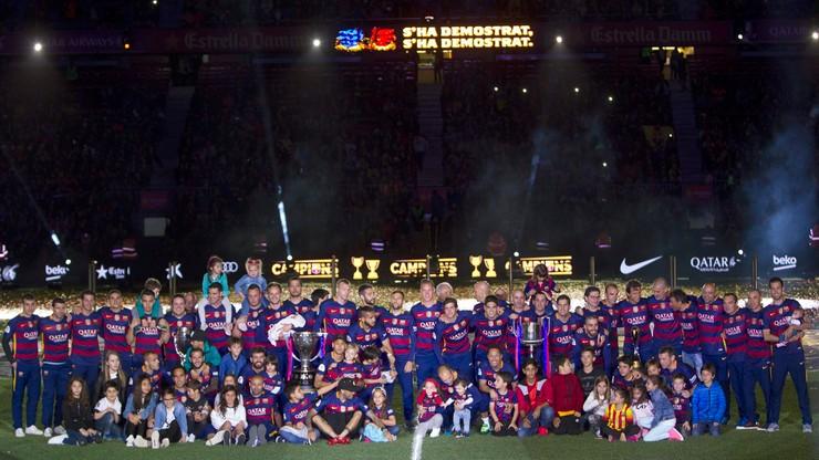 La Liga: Barcelona świętowała zdobycie dubletu