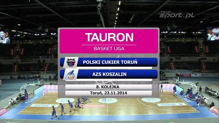 Polski Cukier Toruń - AZS Koszalin 89:96. Skrót meczu