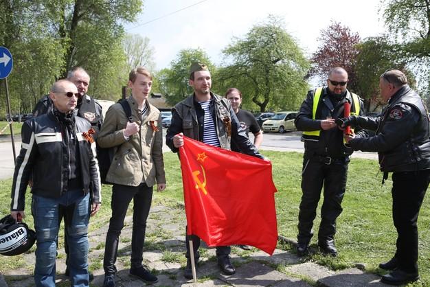 Rosyjscy motocykliści w Oświęcimiu - ale nie jako Nocne Wilki