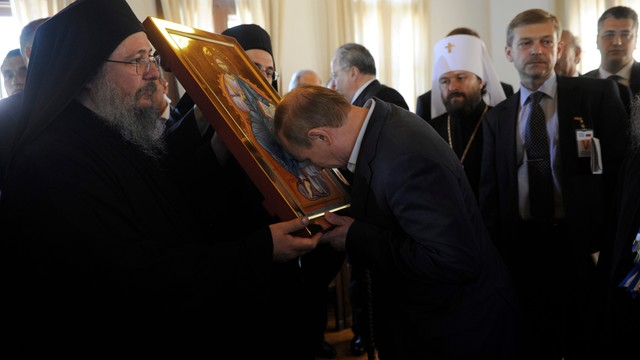 Grecja: Putin na górze Athos