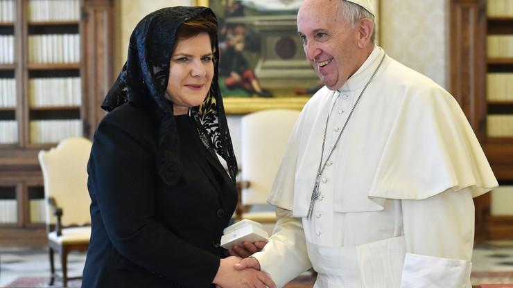 Premier Szydło na audiencji u papieża Franciszka