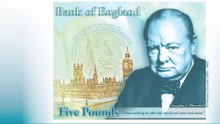 Oto pierwszy brytyjski plastikowy banknot. Pięciofuntówka z wizerunkiem Churchilla