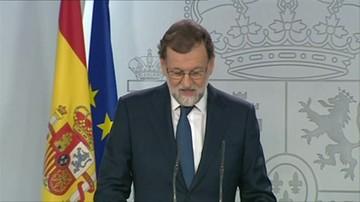 Premier Hiszpanii grozi władzom Katalonii zawieszeniem autonomii regionu