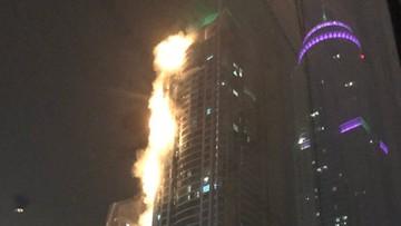 04-08-2017 05:33 Pożar jednego z najwyższych drapaczy chmur w Dubaju
