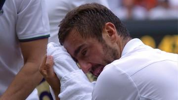 2017-07-16 Wimbledon: Cilic popłakał się w trakcie spotkania! (WIDEO)