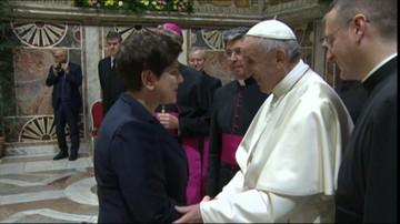 2017-03-24 Unijni przywódcy u papieża. Wśród nich premier Szydło i Donald Tusk