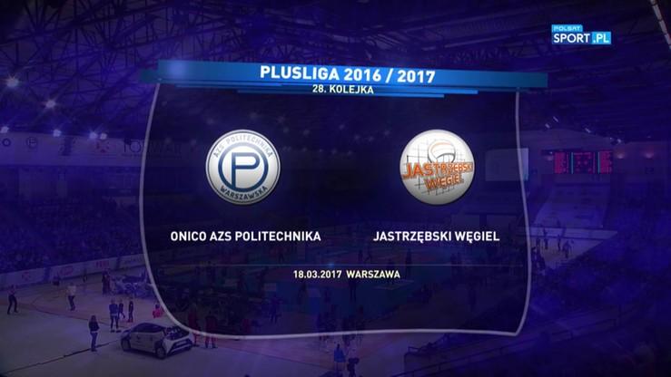 Onico AZS Politechnika Warszawska - Jastrzębski Węgiel 3:2. Skrót meczu