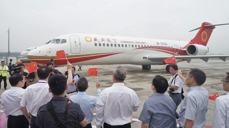 Pierwszy chiński pasażerski odrzutowiec rozpoczął komercyjne loty