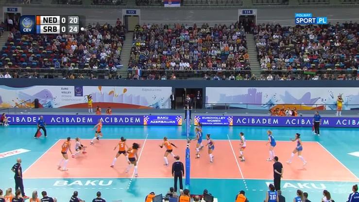 Holandia - Serbia 1:3. Skrót finału ME siatkarek