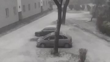 2017-11-27 Śnieg za oknem. Zima zawitała do Sosnowca