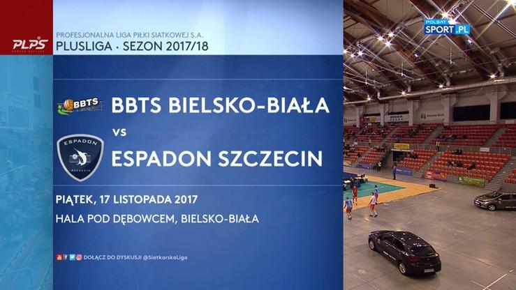 BBTS Bielsko-Biała - Espadon Szczecin 3:2. Skrót meczu