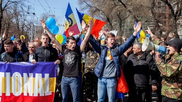 Mołdawia: marsz zwolenników zjednoczenia Mołdawii z Rumunią
