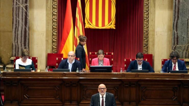 Parlament Katalonii przyjął ustawę o referendum ws. secesji regionu