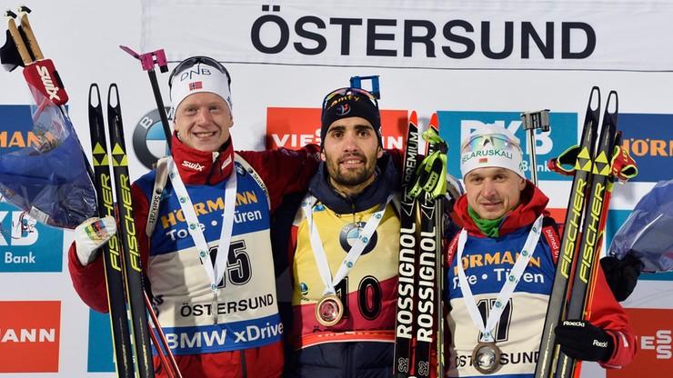 PŚ w biathlonie: Fourcade bezkonkurencyjny na 20 km w Oestersund