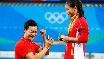 """15-08-2016 08:08 Rio: powiedziała """"tak"""" na pływalni. Chinka zdobyła medal i pierścionek"""