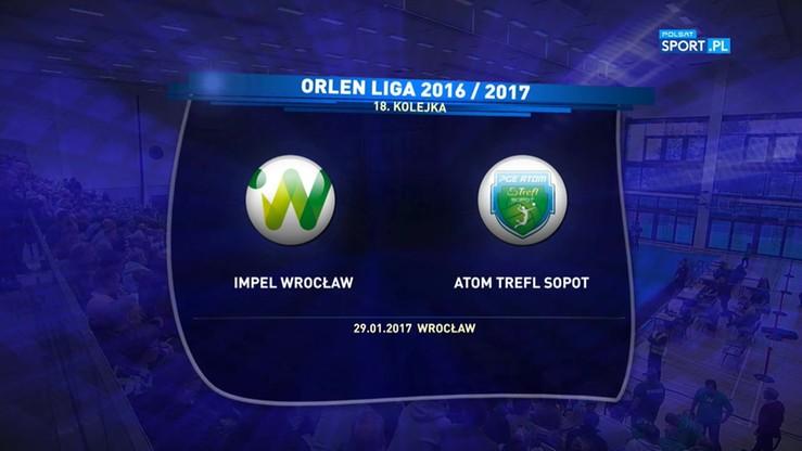 Impel Wrocław - Atom Trefl Sopot 3:1. Skrót meczu