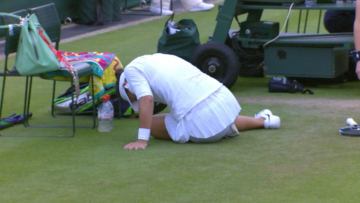 Wimbledon: Dramat rywalki Radwańskiej! Pechowa kontuzja w kluczowym momencie